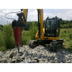 Młot hydrauliczny do minikoparki o wadze 3,4 do 4,5 tony